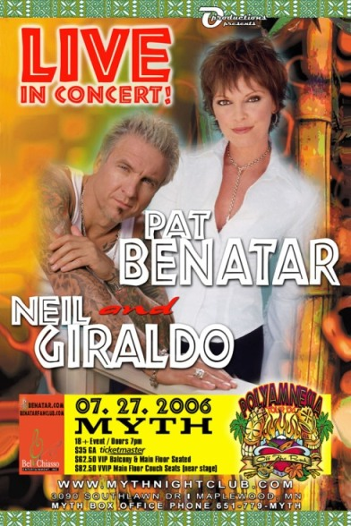 NEIL!!! and Pat live in concert poster!