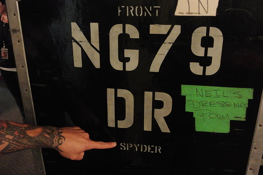 Spyder's wardrobe case