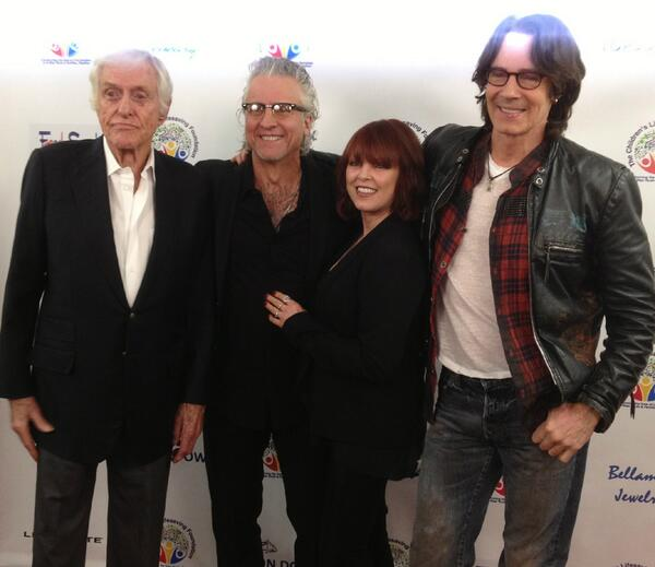 dick van dyke, spyder, pat and rick springfield at clf