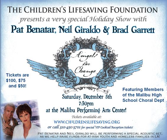 flyer for childrenslifesaving.org concert