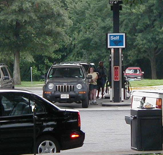 getting gas