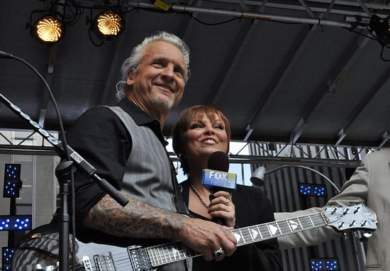 spyder giraldo and pat benatar on fox and friends,photo by harold bottomley