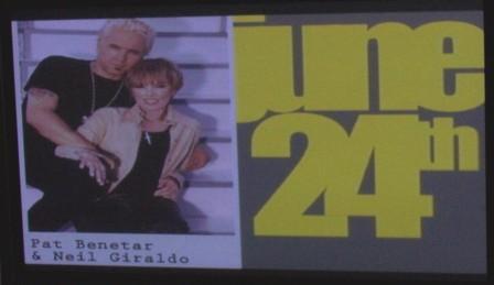 Neil Giraldo & Pat Benatar sign,baltimore 6/24/08 photo by danielle severino