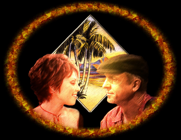 NEIL!!! and Pat in Hawaii, artwork by harold bottomley!