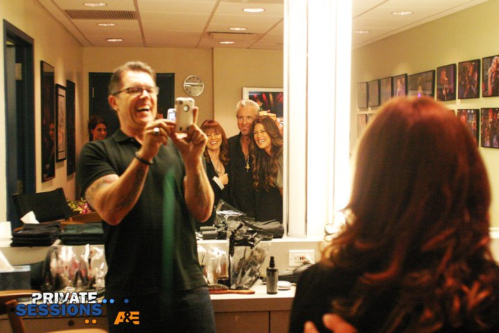 spyder, pat in dressing room at private sessions