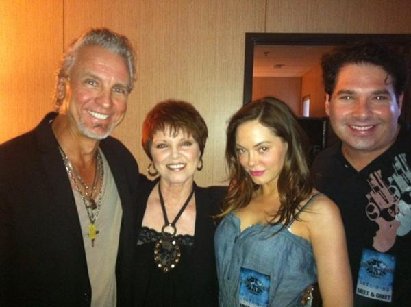 spyder and pat with Rose mcgowan
