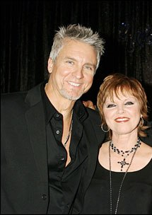 pat and spyder on set of young and restless, jpi photo